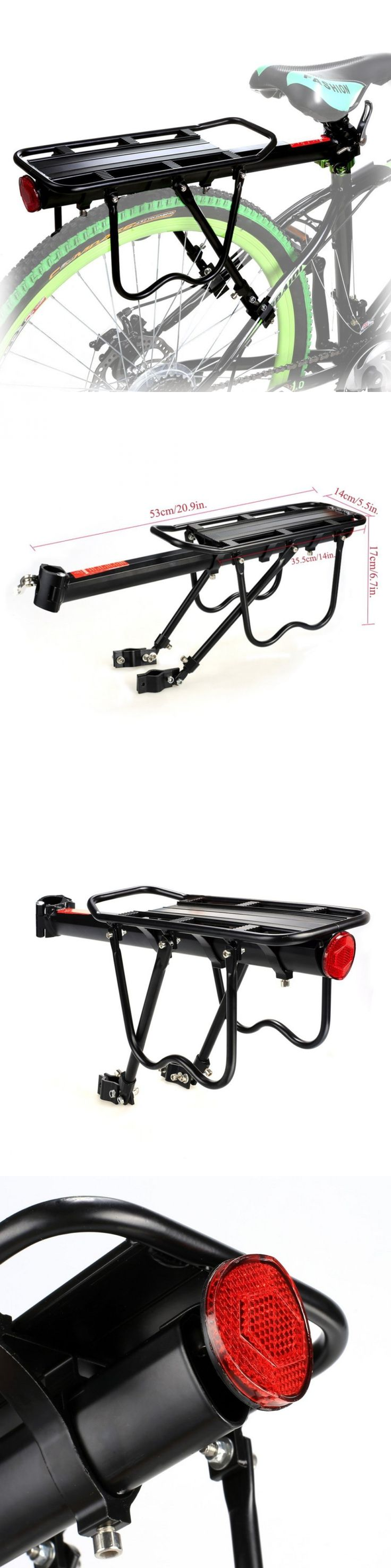 Carrier and Pannier Racks 177836: 110 Lbs Capacity Bicycle Rear Rack Adjustable Pannier Bike Luggage Cargo Rack -> BUY IT NOW ONLY: $31.8 on eBay!