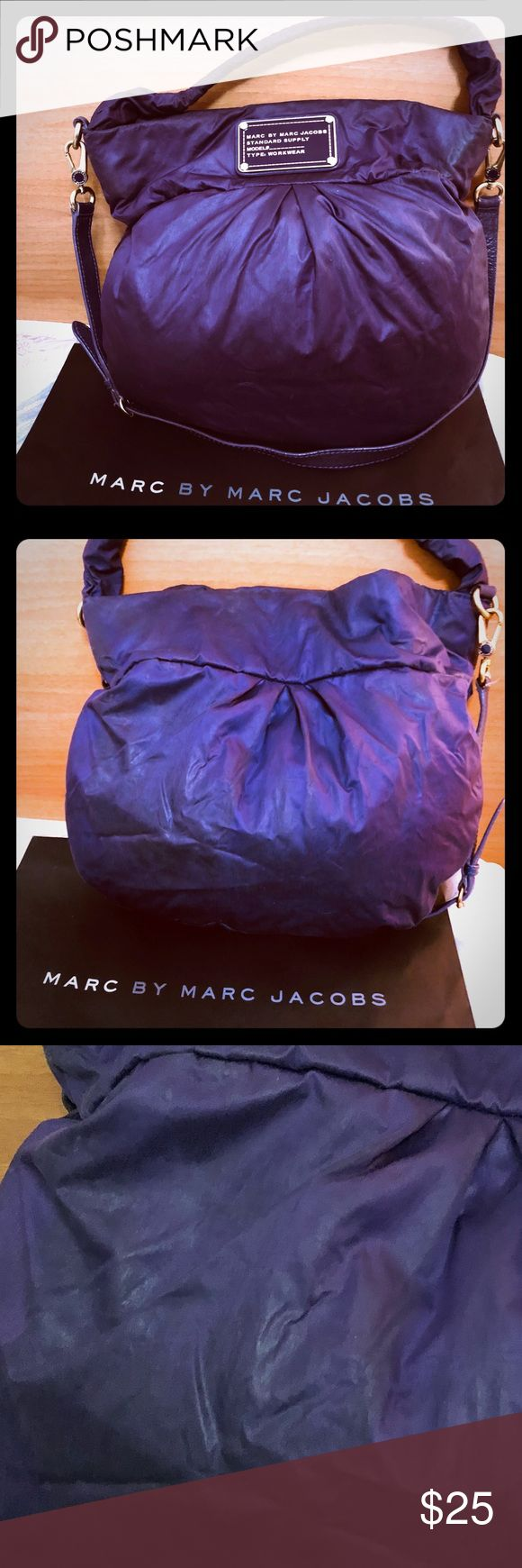 Marc by Marc Jacobs's purple shoulder bag Marc by Marc Jacobs purple shoulder bag with long straps ( mild  stain  back of purse still good condition no damage) Marc By Marc Jacobs Bags Shoulder Bags