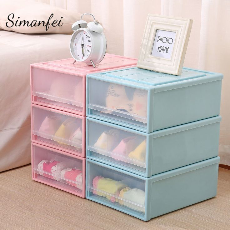 Simanfei Underwear Storage Box 2017 New Plastic Drawers Multi-functional Dust proof Clothes Basket Socks Bra Holder Organizer