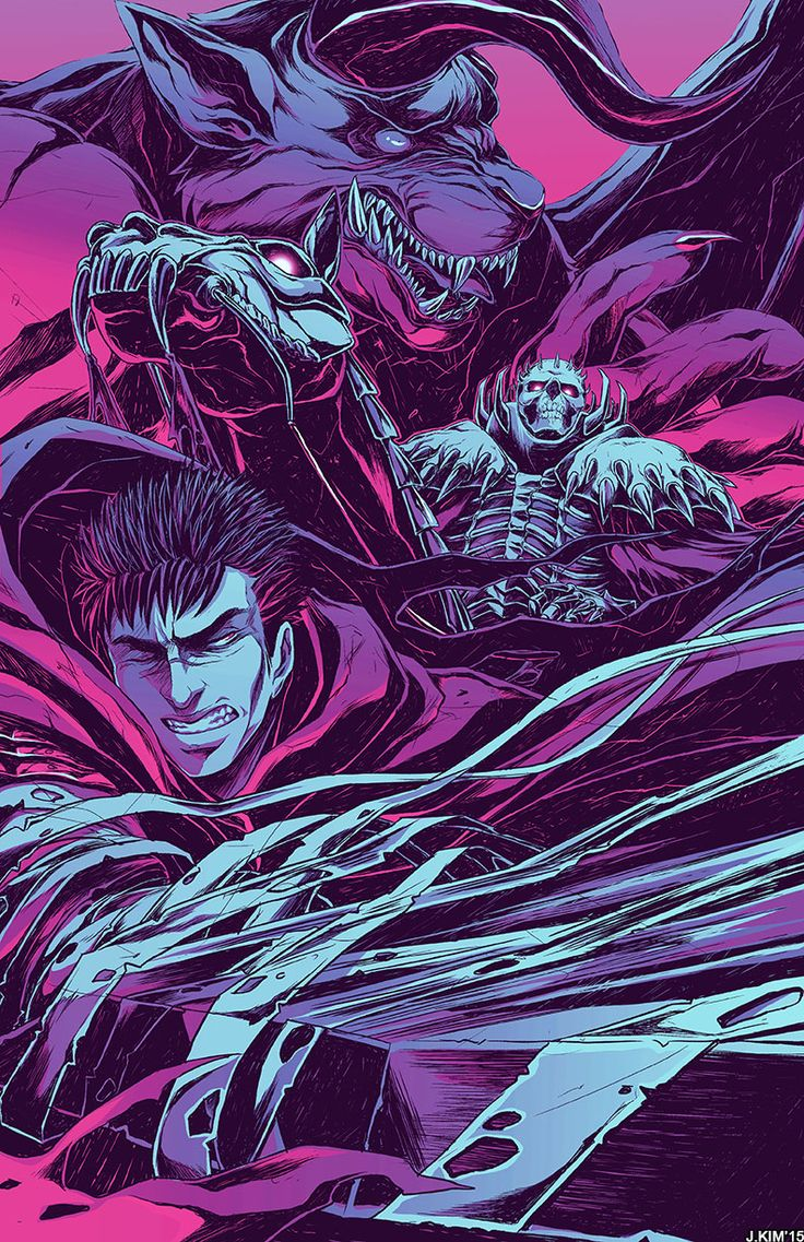 Okay, so this completely happened by accident, but I also have an alternate  version of the Guts print! Since I don't know what the hell I did, I  don't think I'll be able to replicate the same effect to the Griffith  print. T3T (I'm MUCH happier with this version though)