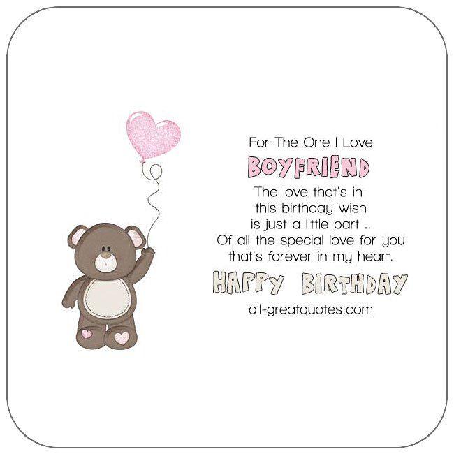 Free Birthday Cards For Boyfriend Happy Card