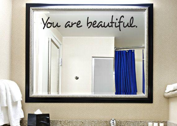 you are beautiful decal bathroom decal boys room decal girls room decal decals kids room decals bathroom decor home decor