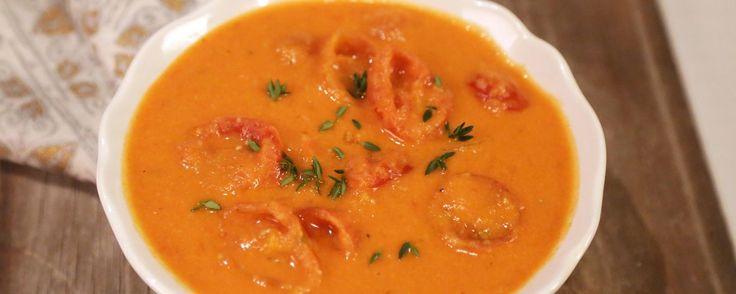 Chunky Creamy Roasted Tomato Soup Recipe by Clinton Kelly   The Chew - ABC.com