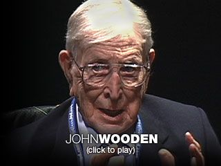 John Wooden: the difference between winning and succeeding  With profound simplicity, Coach John Wooden redefines success and urges us all to pursue the best in ourselves. In this inspiring talk he shares the advice he gave his players at UCLA, quotes poetry and remembers his father's wisdom.