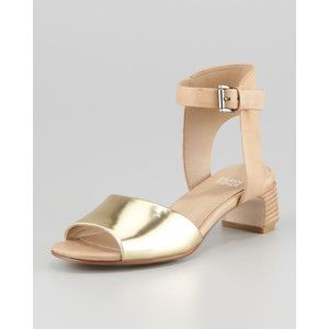 Eileen Fisher Catch Leather Ankle-Wrap Sandal