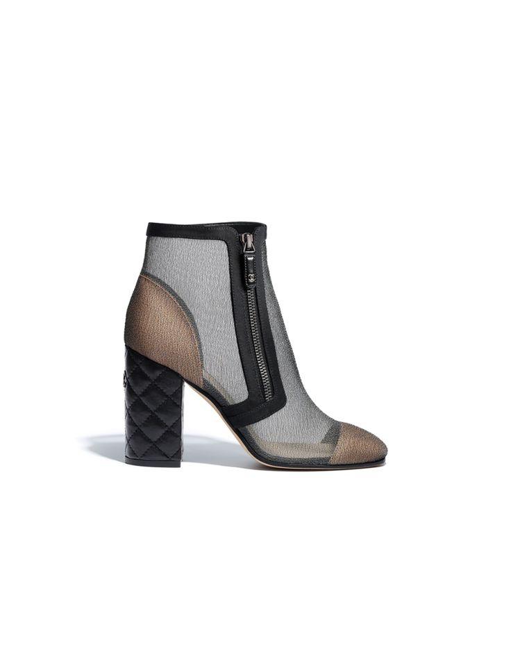 S/S 2018 - mesh & grosgrain-gray ($900)