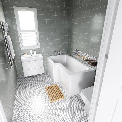 1500x850mm Left Hand L-Shaped Bath