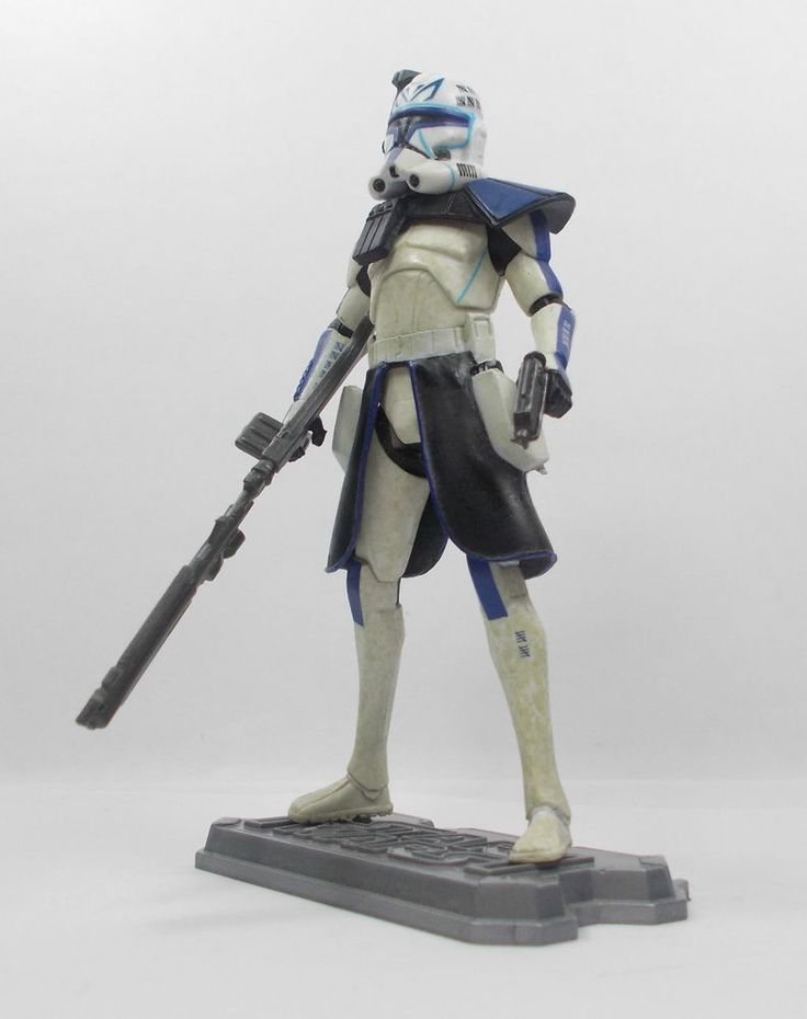 Star Wars - Clone Trooper Arc Blue Action Toy Figure - Hasbro 2011 (1)