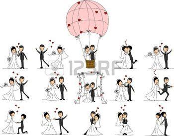 couple de mariés dessin: Photos de mariage, l'amour de la mariée et le marié Illustration