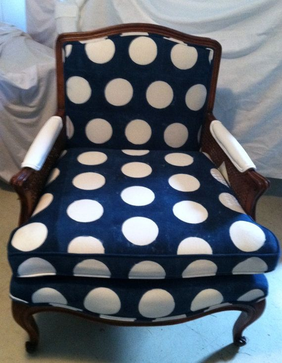 adorable polka dot chair... I would scrap everything in a room & start over with this cute chair!!!! love those polka dots....