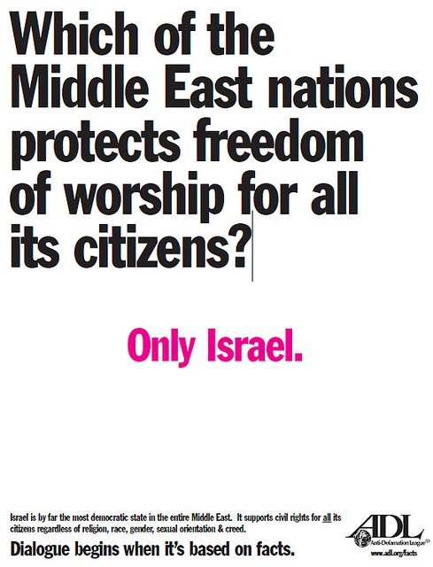 Stand with Israel, stand with the right of Israel to exist. #zionism #freedomofworship Freedom of Worship in Israel by Anti-Defamation League, via Flickr