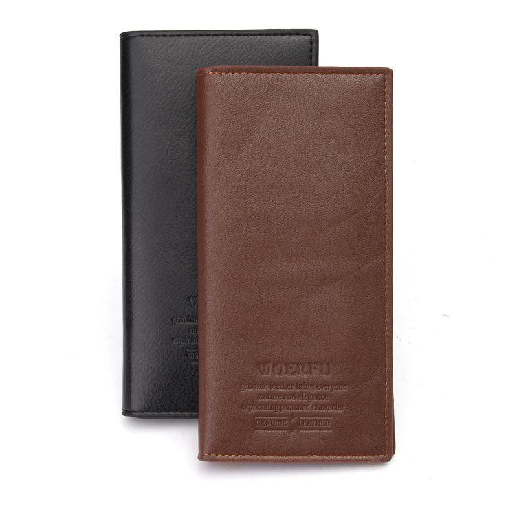 Ultra Slim Men Leather Wallet Money Clip Credit Card Holder Purse