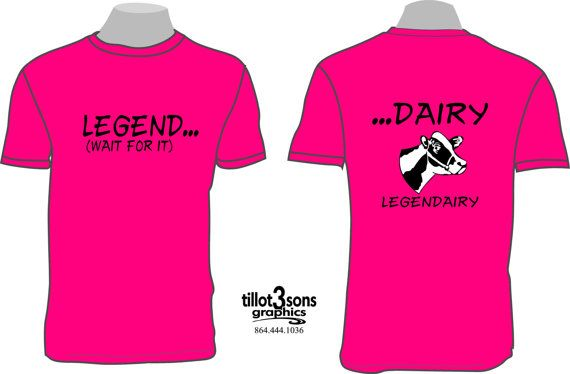 Legend Dairy Tshirt: by tillot3sonsgraphics
