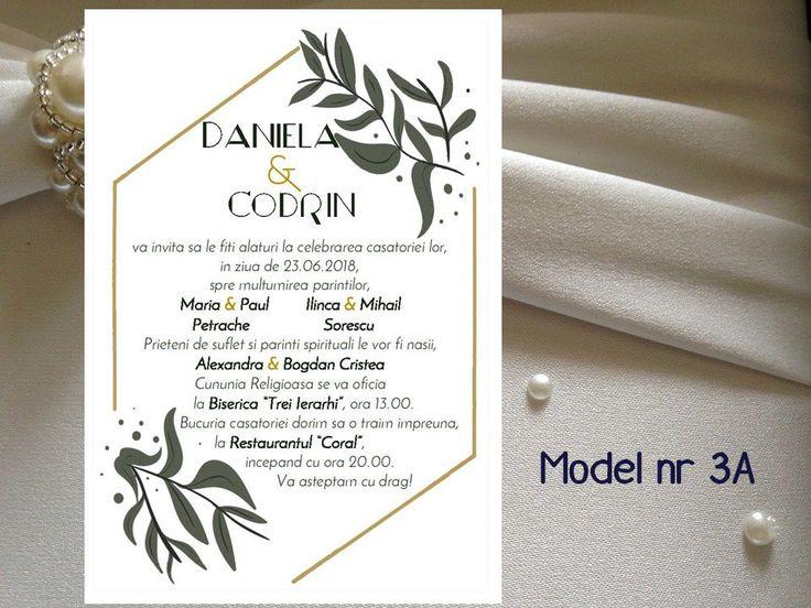Invitatie de nunta in Rama Florala  modele 1A - 4A