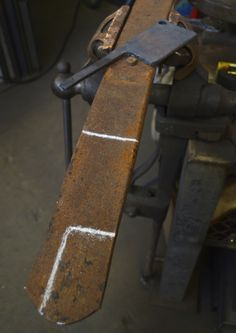 Most leaf spring steel is best for making tools because you can shape it easily and temper it easily too. -Andrew Zimmern