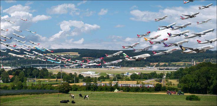 20 Minuten - Tausende Fotos für ein Bild vom Flughafen Zürich - Viral