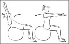 Swiss-ball Abdominaux - Exercice avec ballon N°4