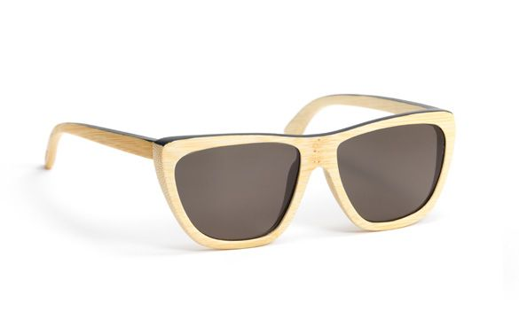 Delta Natural from Waiting for the Sun - UV 100% Category 3Bamboo Sunglasses handmade in France withCarl ZEISS lenses $169
