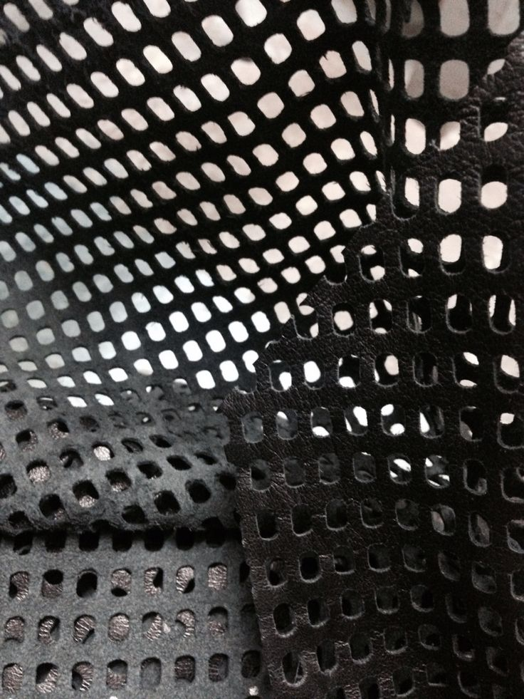 Samples: hole punched leather