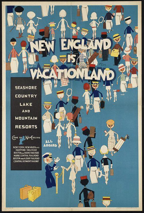 Affiche Tourisme Nouvelle Angleterre