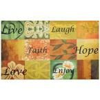 Life Welcome 18 in. x 30 in. Outdoor Rubber Entrance Mat, Multi