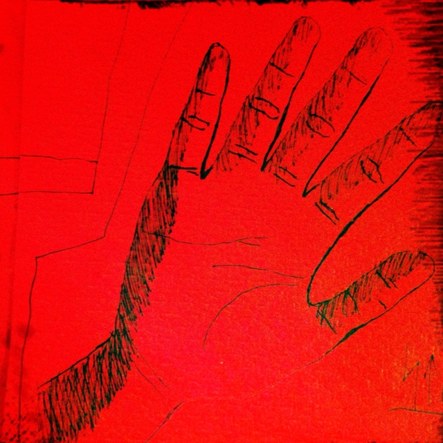 Sterre's hand. Rest. Toscana, Paris, 29/4/12.