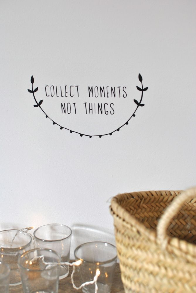 """sticker """"collect moments not things"""" http://simplyfactory.bigcartel.com"""