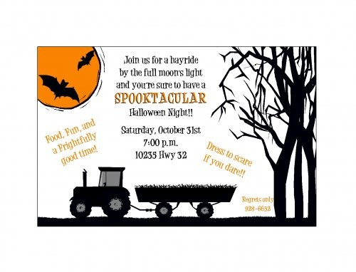 halloween invitations 5 5 x 8 5 - 77042