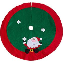 Saia para Árvore de Natal Noel com Floco de Neve 100cm - Orb Christmas