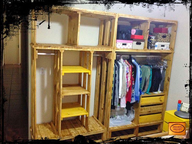 Las 25 mejores ideas sobre muebles hechos con palets en pinterest - Armarios hechos con palets ...