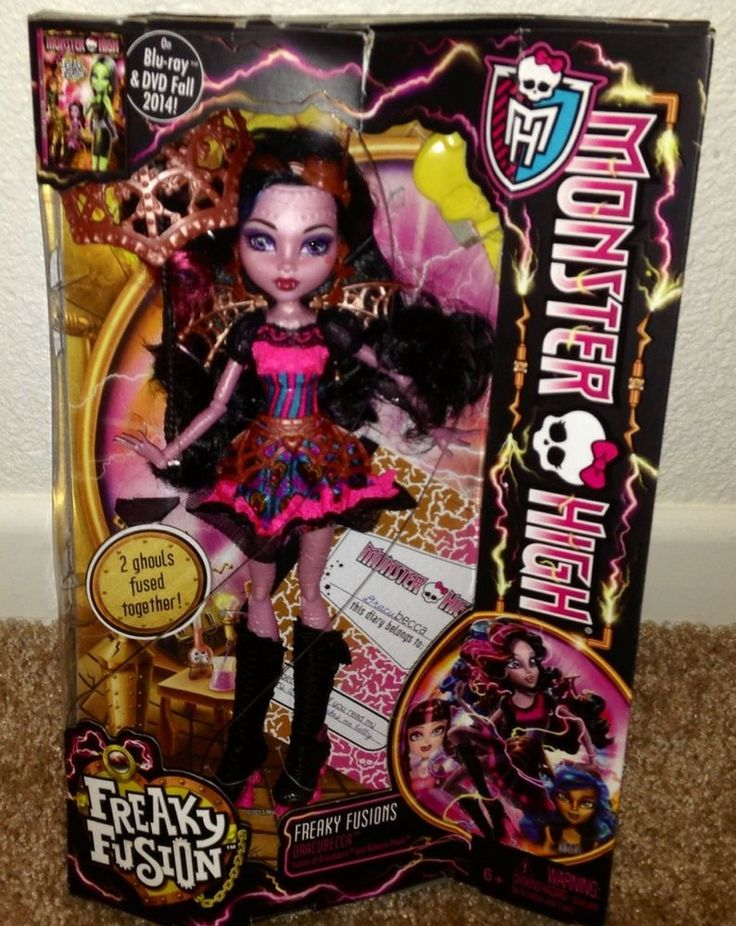 Monster High Freakie Fusion Dracubecca NEW Just Released IN HAND #MonsterHigh