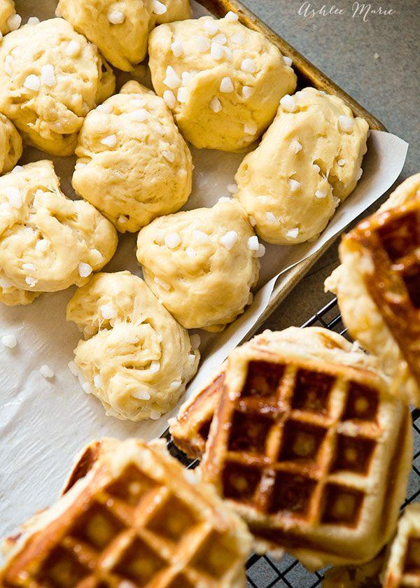 yeast dough based Belgian liege waffle recipe