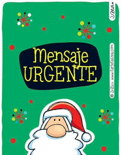 Mensaje navideño para el grupo de WhatsApp-Papá noel muy feliz. © ZEA www.tarjetaszea.com