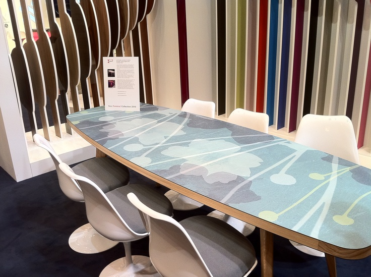 James Burleigh Table with Surface View imagery in Formica Bespoke laminate commissioned for 100% Design 2010