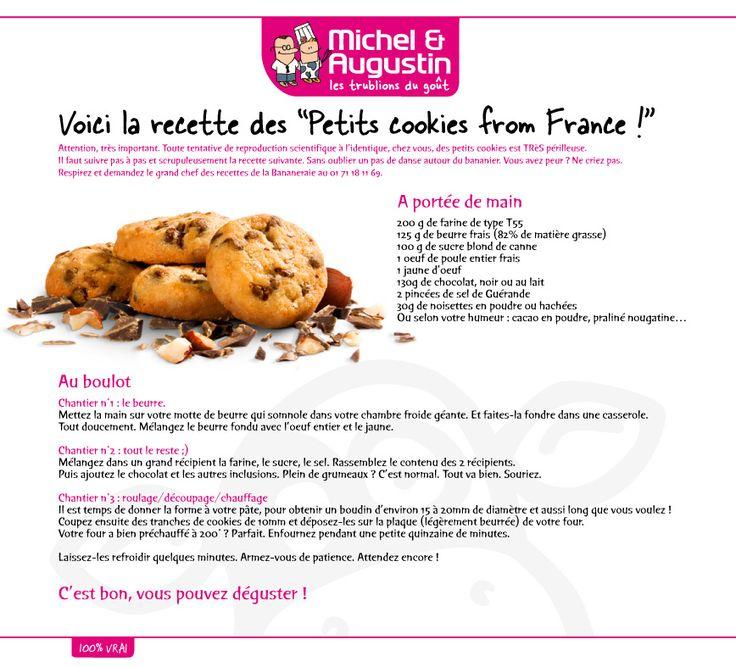 La vraie recette des petits Cookies Michel et Augustin