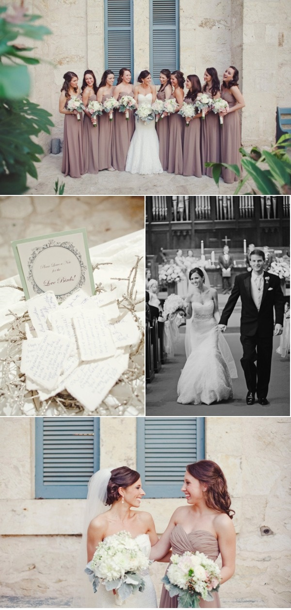 Check out this beautiful wedding of Mrs. Stephanie Roberts! Bridesmaid Dresses are by Bill Levkoff from Houston Bridal Gallery!