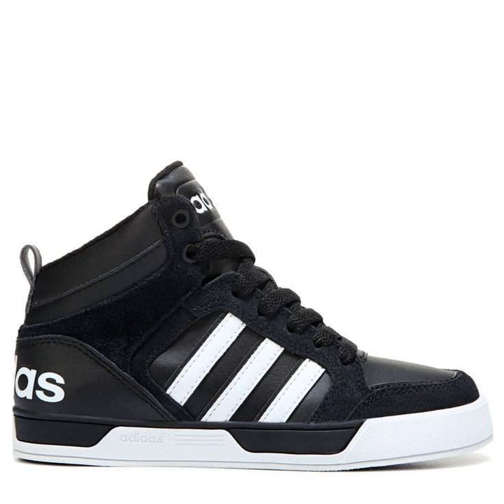 adidas boys' black 'neo skool' high top trainers