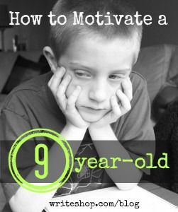 How can you motivate a 9-year-old who doesn't like to write? Try sparking interest with concrete topics, story starters, and guided writing.