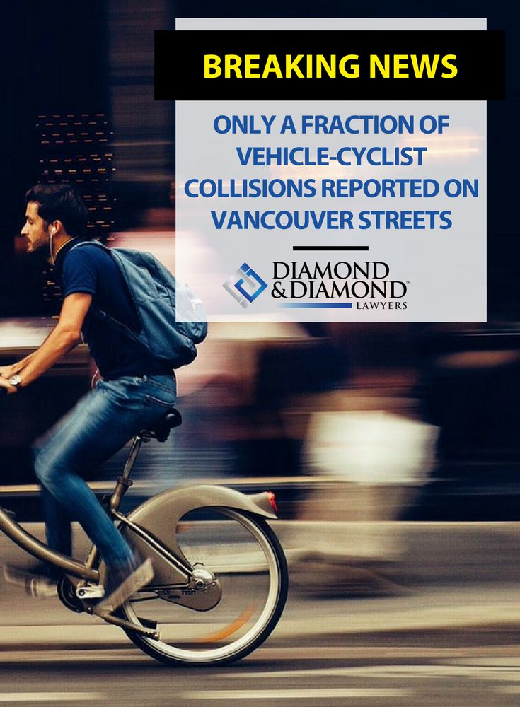 It appears that only a fraction of vehicle-cyclist collisions are being reported, many times because people don't want to deal with insurance companies. Diamond & Diamond lawyer, Richard Chang, explains this is where a personal injury lawyer comes in.