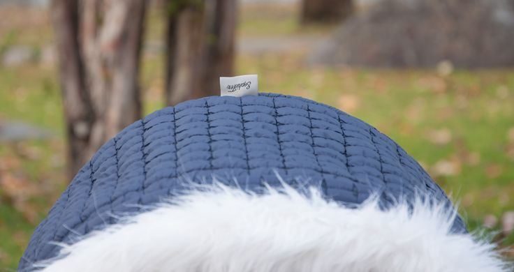 White faux fur on blue winter kit custom made by SophieTex.  Check out our all our designs and visit our webshop www.sophietex.hu to order. we ship world wide!