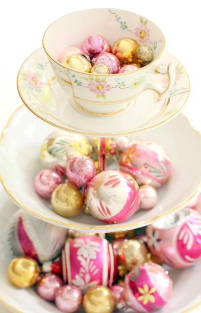 love this idea = hot glue old plates and bowls, tea cups and use candle holders in between the layers!  can be used as candy server, cake balls, decoration/table centerpiece, bird feeder, jewelry holder - and more!