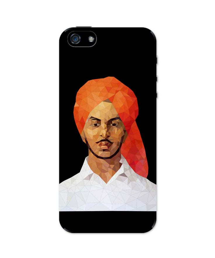 Bhagat Singh Poly Art iPhone 5 / 5S Case