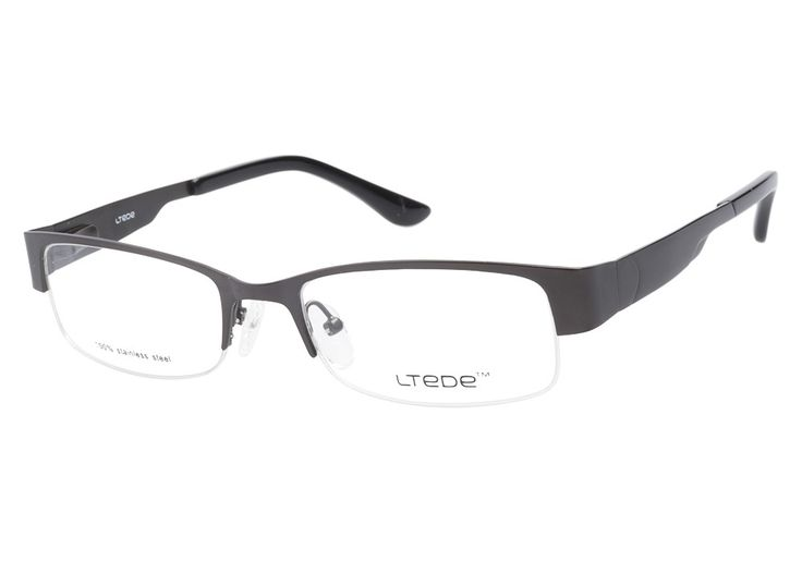 The Ltede 1035 Gunmetal eyeglasses have a cool, confident style that's very sleek and trendy.  The rectangular lenses are a very popular shape to make a round face look longer and thinner. Spring hing from @CoastalDotCom