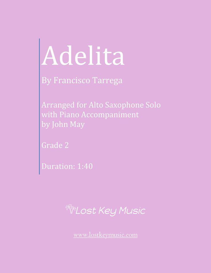 Adelita-Alto Saxophone with Piano Accompaniment
