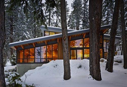 cabina de montaña modernas piscina - Buscar con Google