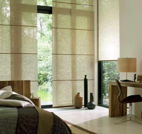 Japanese Blinds Available as vertical blinds, sliding panels or roller blinds