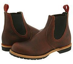 $310, Brown Leather Chelsea Boots: Red Wing Shoes Red Wing Heritage Chelsea Rancher. Sold by Zappos. Click for more info: https://lookastic.com/men/shop_items/435/redirect