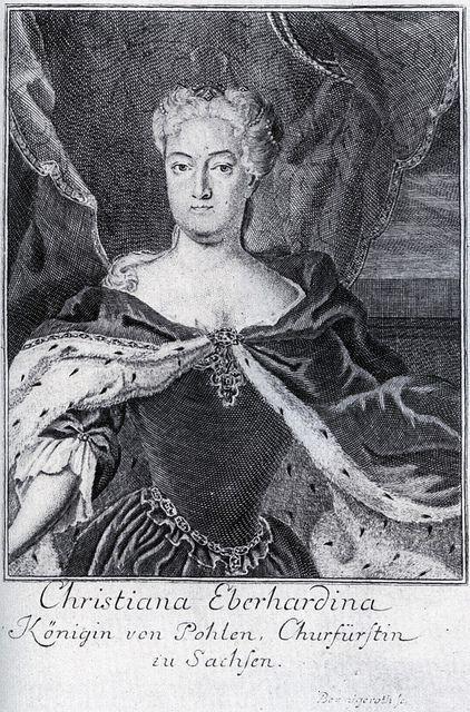 Christiane Eberhardine, wife of August II, gueen of Poland