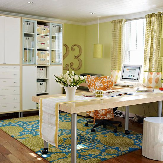 "Give your office a ""space-lift!"" Here's how: http://www.bhg.com/decorating/storage/organization-basics/meaningful-organization/#page=3"