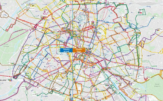 Paris unveils new bus network map for first time in 70 years - The Local